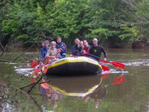 schöne Schlauchboot/ Kanutour Werra von Lauchröden nach Creuzburg