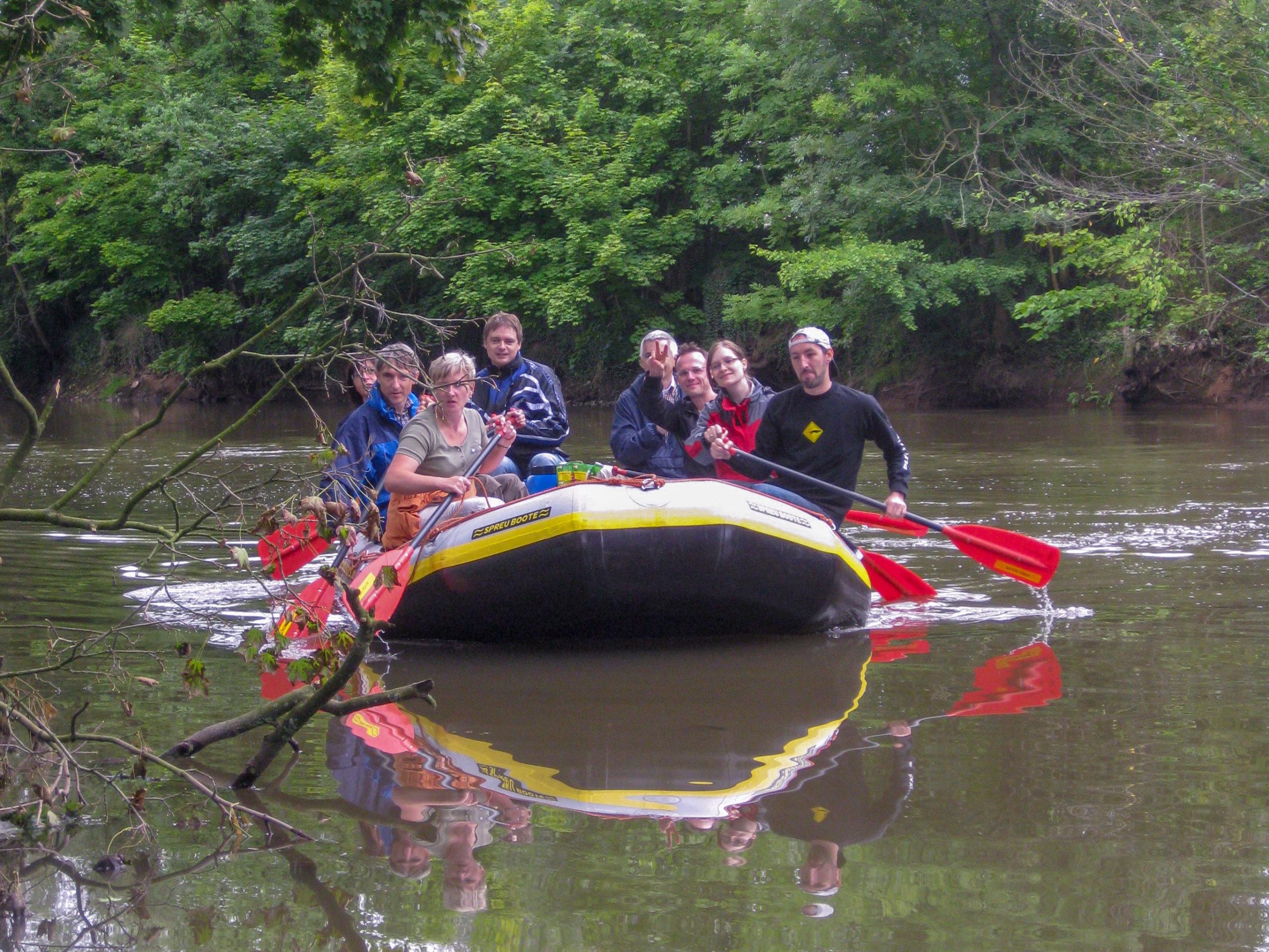 Schlauchboot/ Kanutour auf der Werra von Lauchröden nach Creuzburg