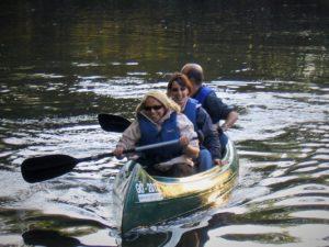 Kanu / Schlauchboot fahren auf der Werra von Neuenhof nach Creuzburg