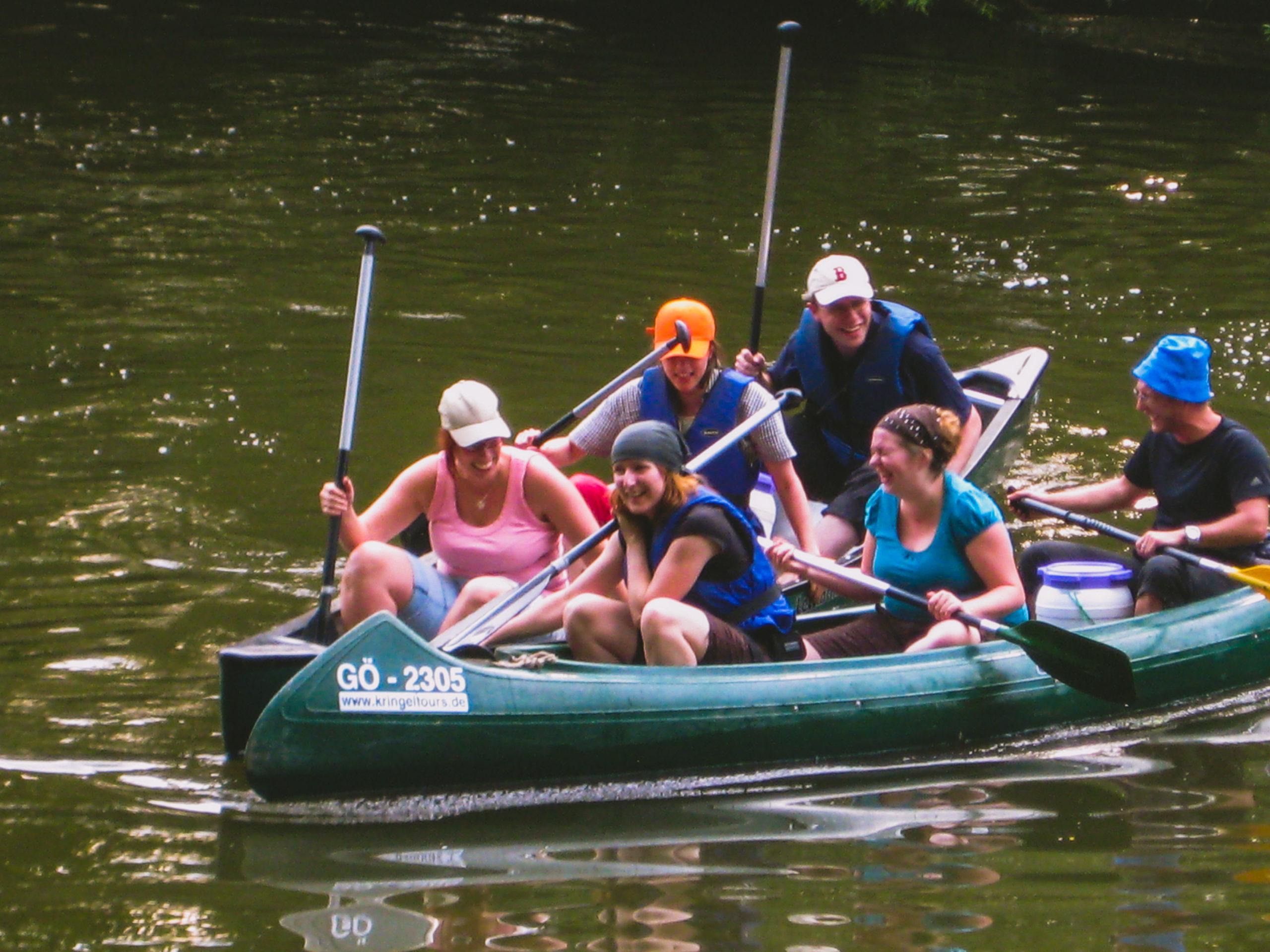 Gruppentouren/Aktivwochenende mit Kanu- oder Schlauchboot- Tour, Übernachtung und Versorgung